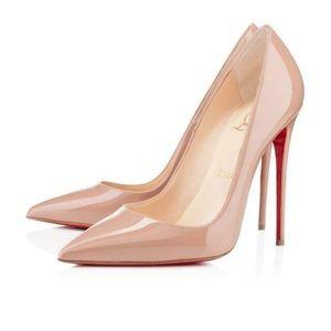Christian Louboutin So Kate Heels Nude Patent